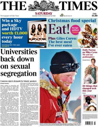 Times front page 14/12/13