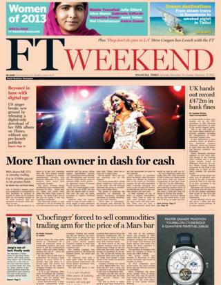 Financial Times front page 14/12/13