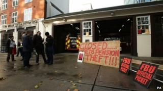 Firefighters strike at Euston