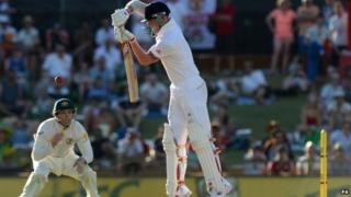 England's Ben Stokes batting