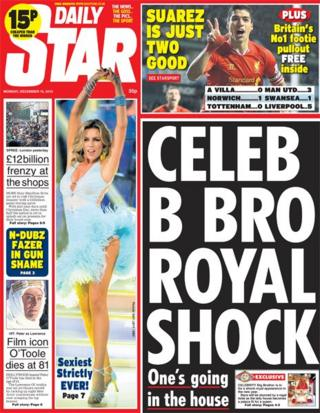 Daily Star front page 16/12/13