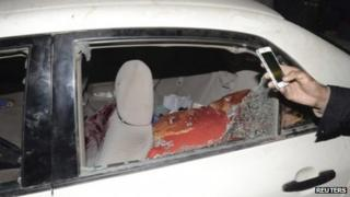 Car in which cleric was travelling