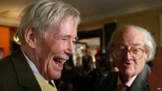 Peter O'Toole (left) and John Mortimer QC during the 12th annual Oldie of the Year Awards in 2004