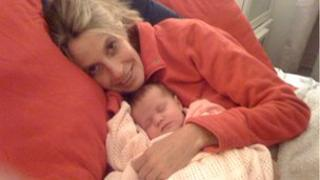 Pippa Saralis-Wheatley and baby Martha
