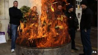 Firemen striking on December 13