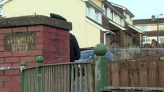 Scene of west Belfast bomb alert