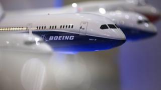 Models of Boeing planes