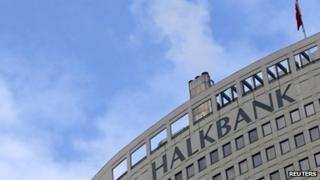 Headquarters of Turkey's Halkbank in Ankara, 17 December 2013