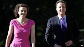 Theresa Villiers with David Cameron