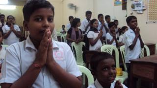 Students in a Tamil class room
