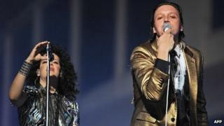 Regine Chassagne and Win Butler of Arcade Fire