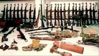 Row of rifles