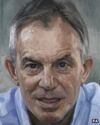 Painting of Tony Blair by Alastair Adams