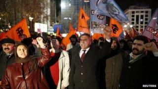 Protesters demonstrate against Prime Minister Tayyip Erdogan, and demand his resignation over the corruption inquiry, December 18th 2013