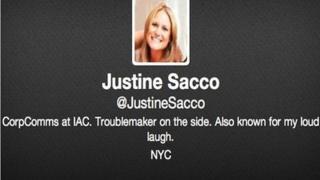 Justine Sacco's twitter account