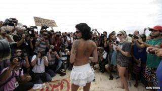 Rio topless ban protest