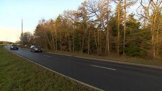 Wooded area near Billingham where human remains were discovered