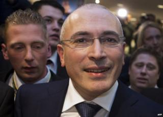 Mikhail Khodorkovsky in Berlin, 22 December