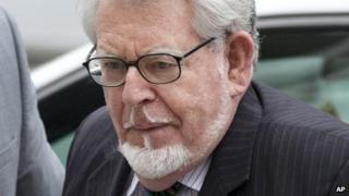 Rolf Harris arriving at Westminster Magistrates' Court on 23/9/13