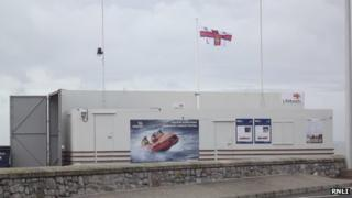 The finished temporary lifeboat station