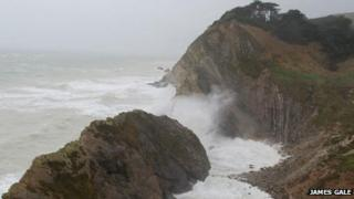 Storm at Stair Hole