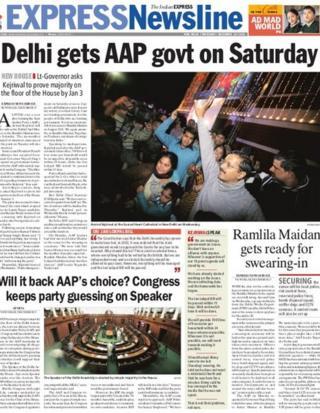 Indian Express on 26 Jan