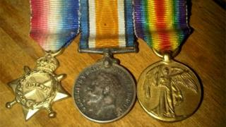 1914-15 Star, British War and Victory medals