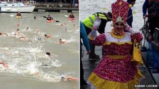 Weymouth and Portland Lions Club Christmas Day swim