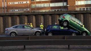 Crash near Charing cross, Glasgow