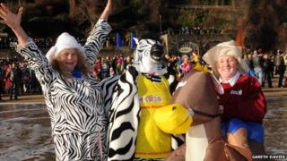A pantomime zebra even joined in the fun
