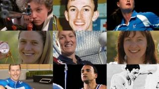 Montage of athletes