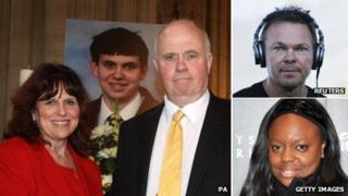Margaret and Barry Mizen, Pete Tong and Pat McGrath