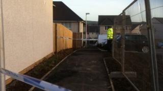 Police tape, Bonnyrigg, Midlothian