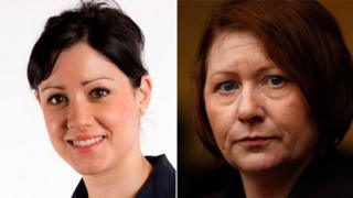 Helene Donnelly (L) and Julie Bailey