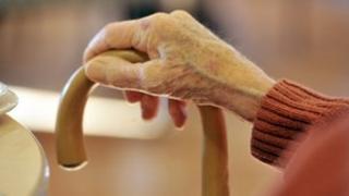 Hand of an older man