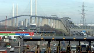 The QEII bridge at the Dartford crossing