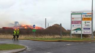 UK Wood Recycling plant fire
