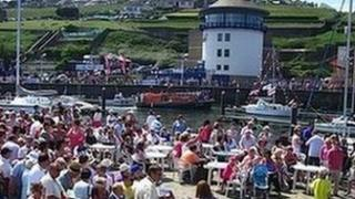 Activities took place all around the harbour area during the Whitehaven Festival