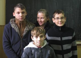 (Clockwise) Razvan, Oana Maria, Sergiu and Catalin