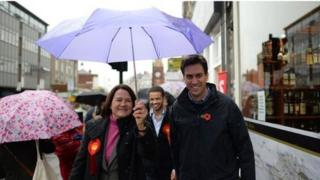 Ed Miliband campaigning in London