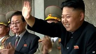 File image of Kim Jong-Un, right, with his uncle Chang Song-thaek