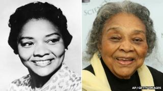 Juanita Moore in 1960 and 2009