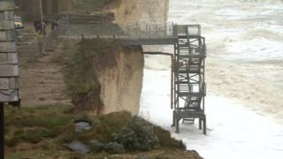 Site of cliff fall at Birling Gap