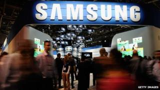 Samsung stand at previous CES