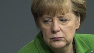 German Chancellor Angela Merkel - file pic