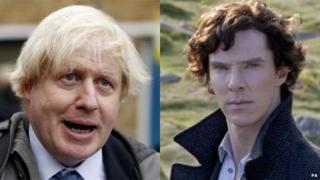 Boris Johnson and Benedict Cumberbatch as Sherlock Holmes