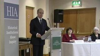 Sir Anthony Hart at HIA press conference
