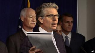 Manhattan District Attorney Cyrus Vance addressed a news conference in New York on 9 July 2013