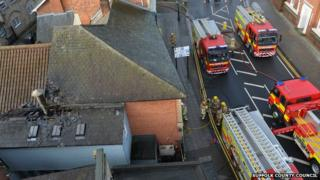 Fire at the Townhouse, Ipswich