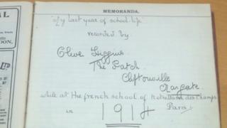 Olive Higgins's diary